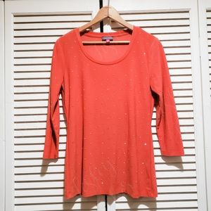 Vince Camuto Crew Neck Studded Top